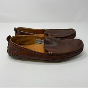UGG Men's Brown Slip On Leather Shoes Size 11 A116